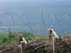 ..Protections au bord des falaises de Fécamp...