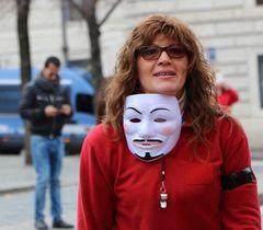 Protester Italian Woman...