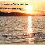 Psalm 119, 105...Dein Wort ist ein Licht auf meinem Weg