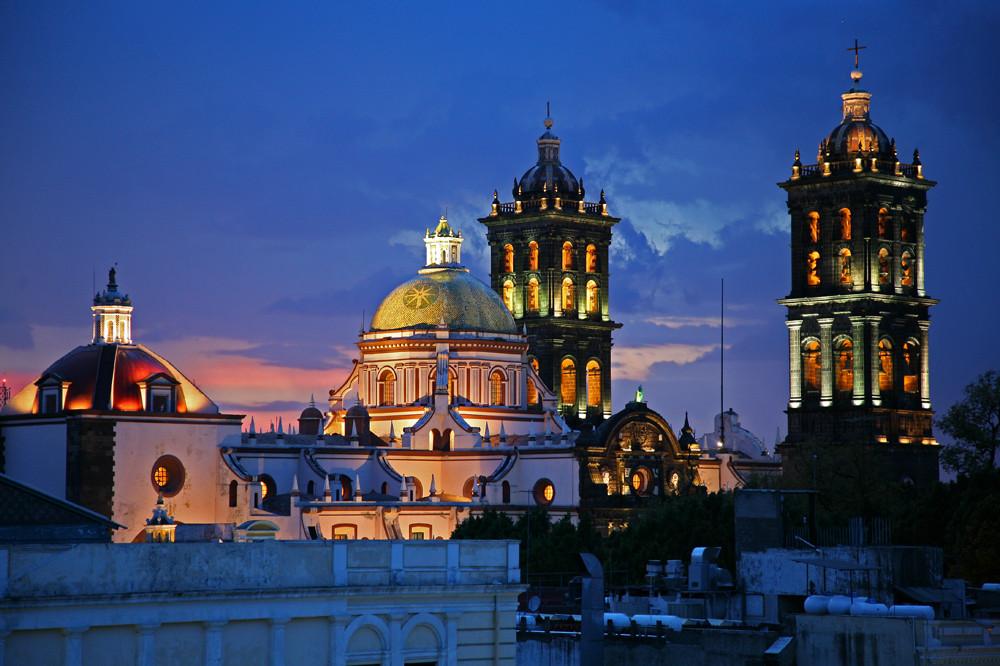 Puebla nach Gewitterregen