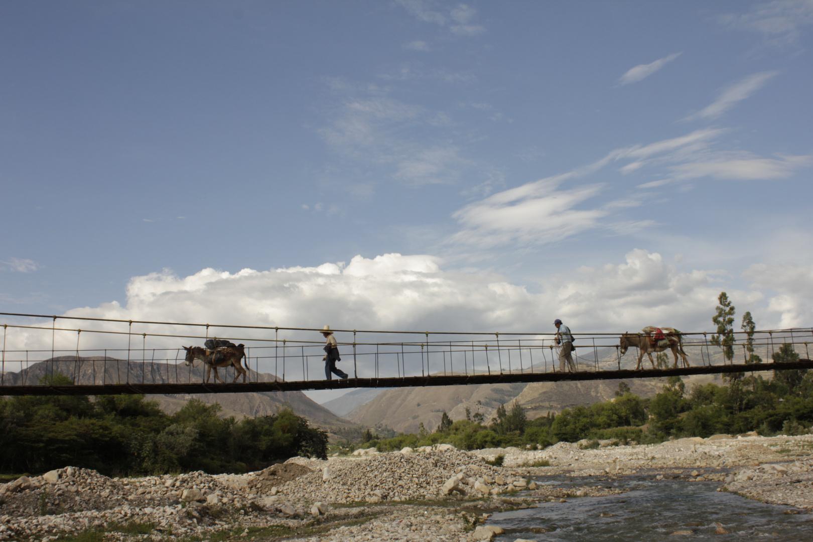 puente Colgante san marcos cajamarca perú