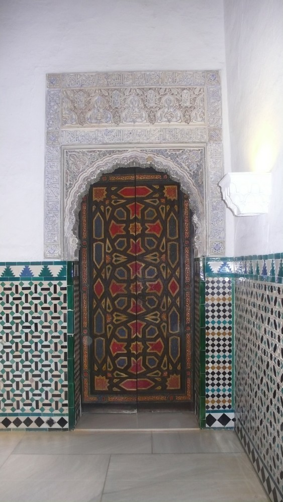 Puerta árabe en el Alcázar