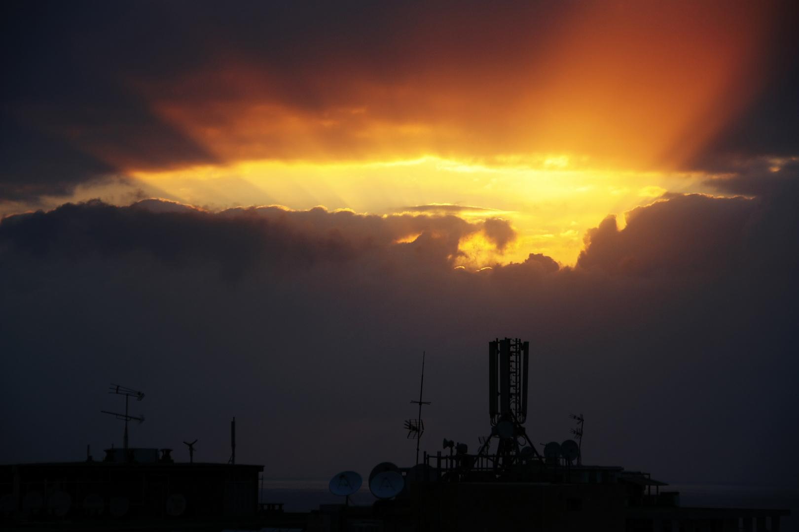 Puerto de la Cruz - Sonnenuntergang Mai 2011
