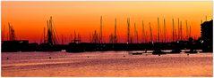 Puerto de Sant Antoni por la noche