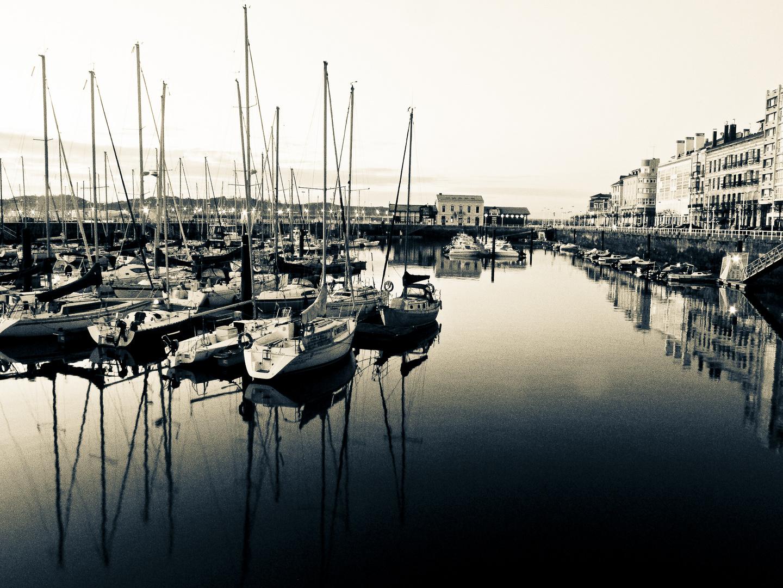 Puerto viejo de Gijon Asturias