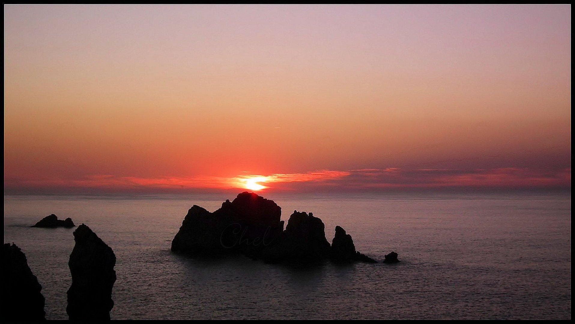 puesta de sol desde los urros