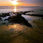 Puesta de sol en Doñana