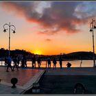 Puesta de sol en Ribadesella