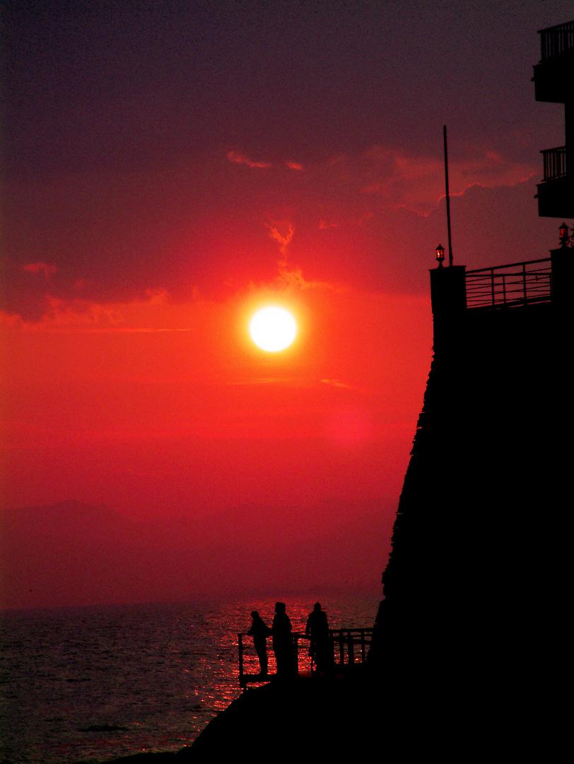 Puesta de sol en Salou (Stellen der Sonne in Salou)