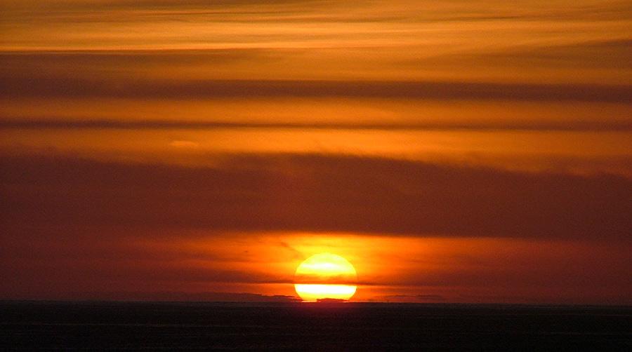 puesta del sol....