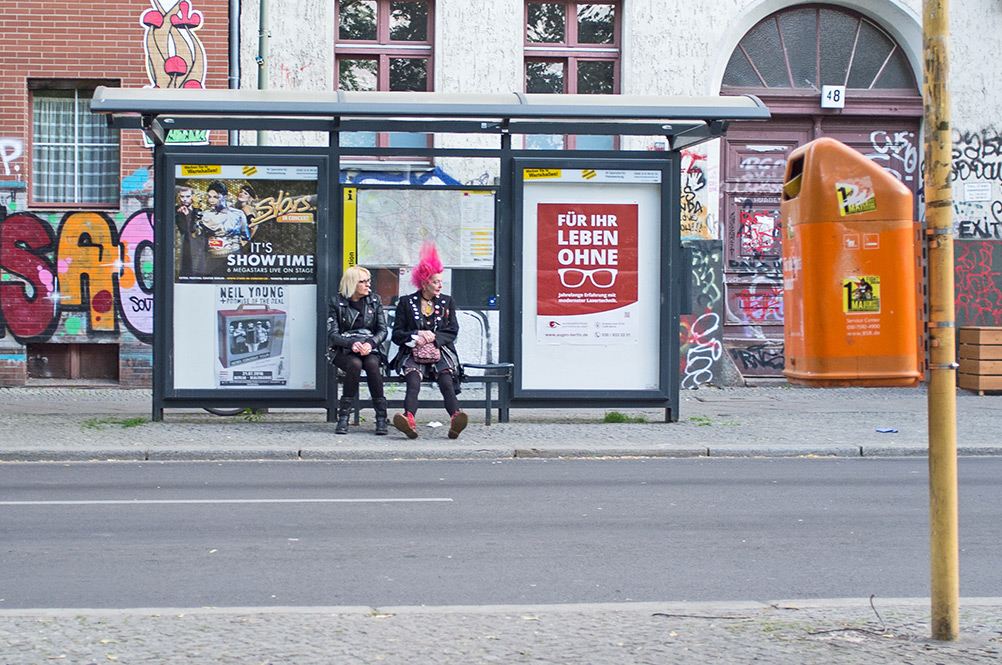 Punks not dead...it waits for the bus