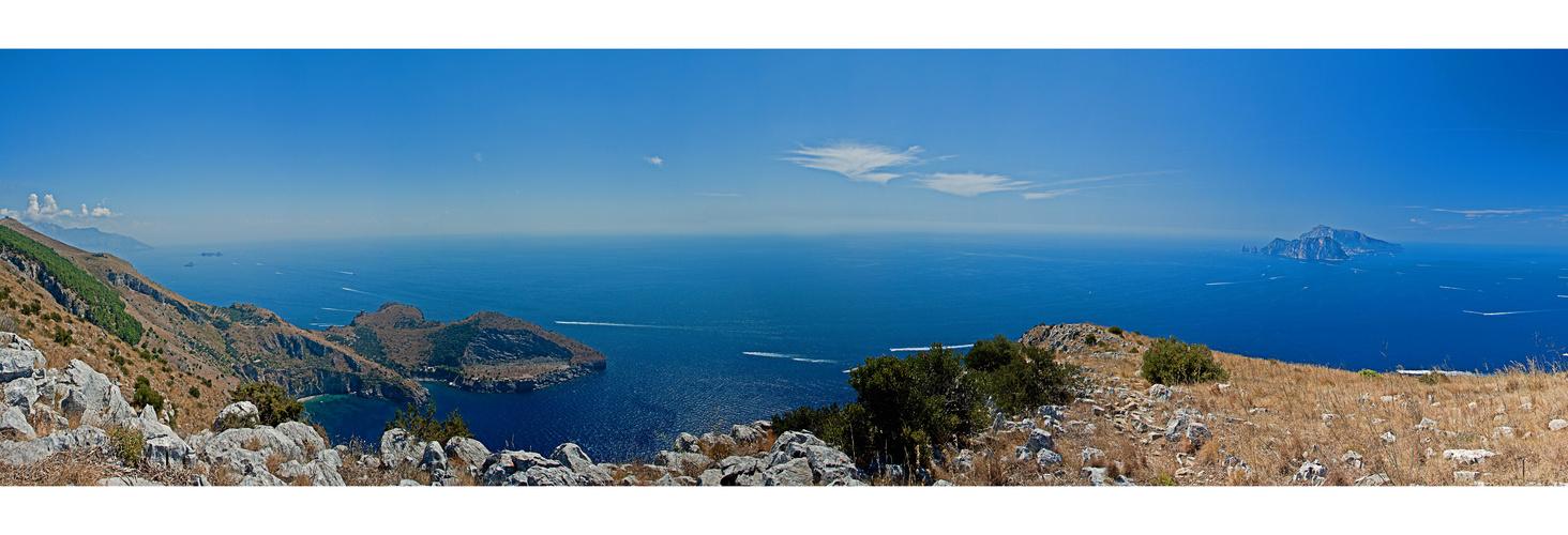 Punta della Campanella mit Blick auf Capri