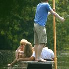 Punting on the Cam, Cambridge.