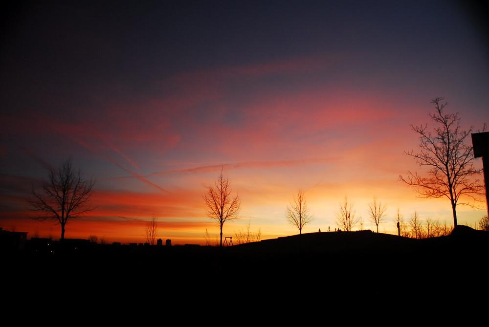 Purpur-Sonnenuntergang
