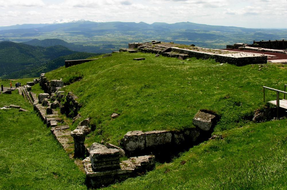 Puy-de-Dôme, Ruinen des römisches Tempels des Merkur