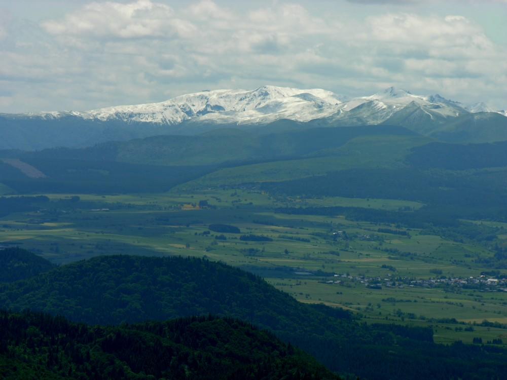 Puy-de-Sancy, gesehen vom Puy-de-Dôme