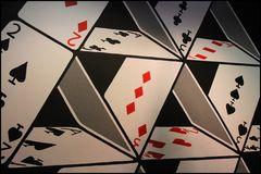 pyramid made of card game