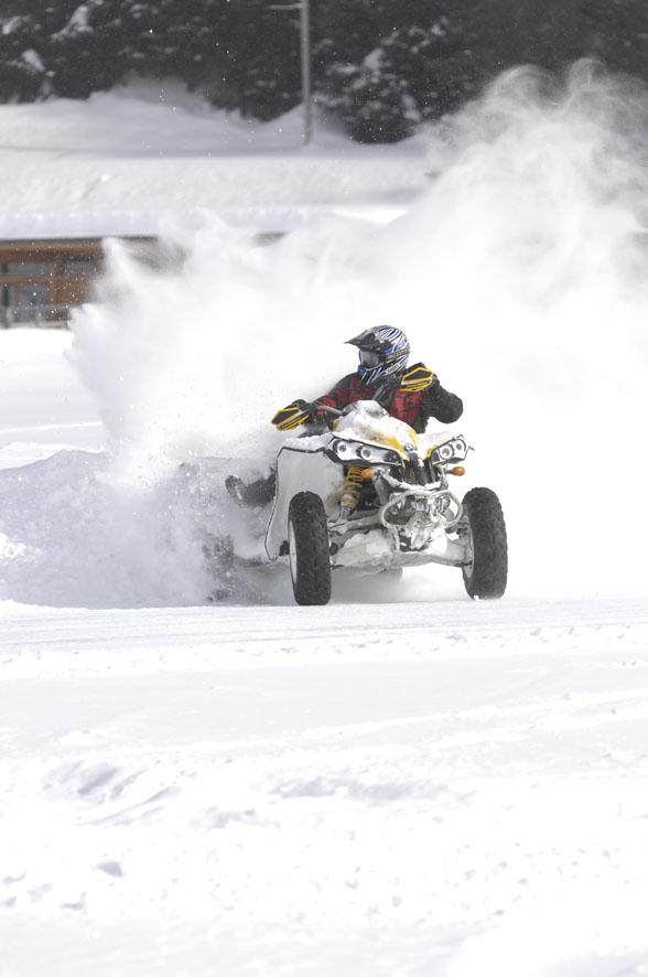 Quad auf Eis in Davos 2009