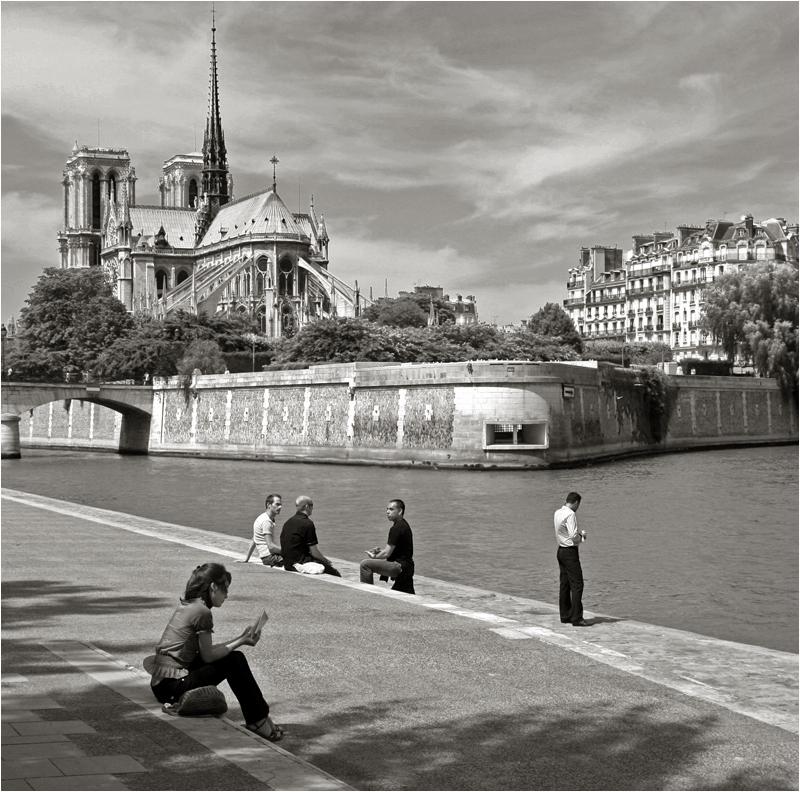 Quai De La Tournelle Foto & Bild