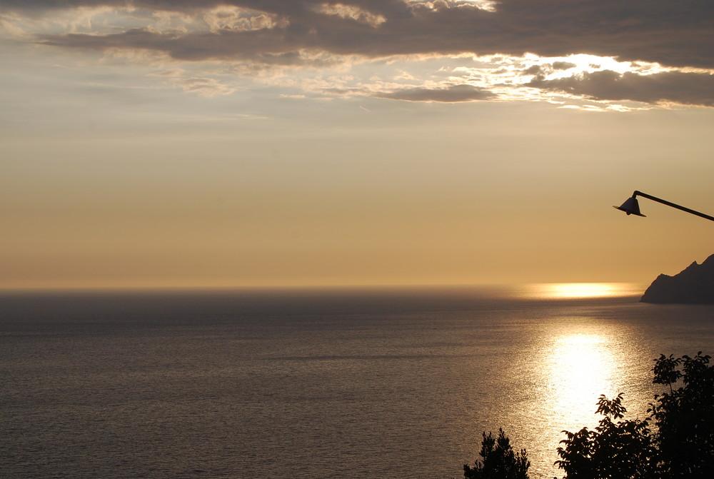 Quando tramonta a Corniglia