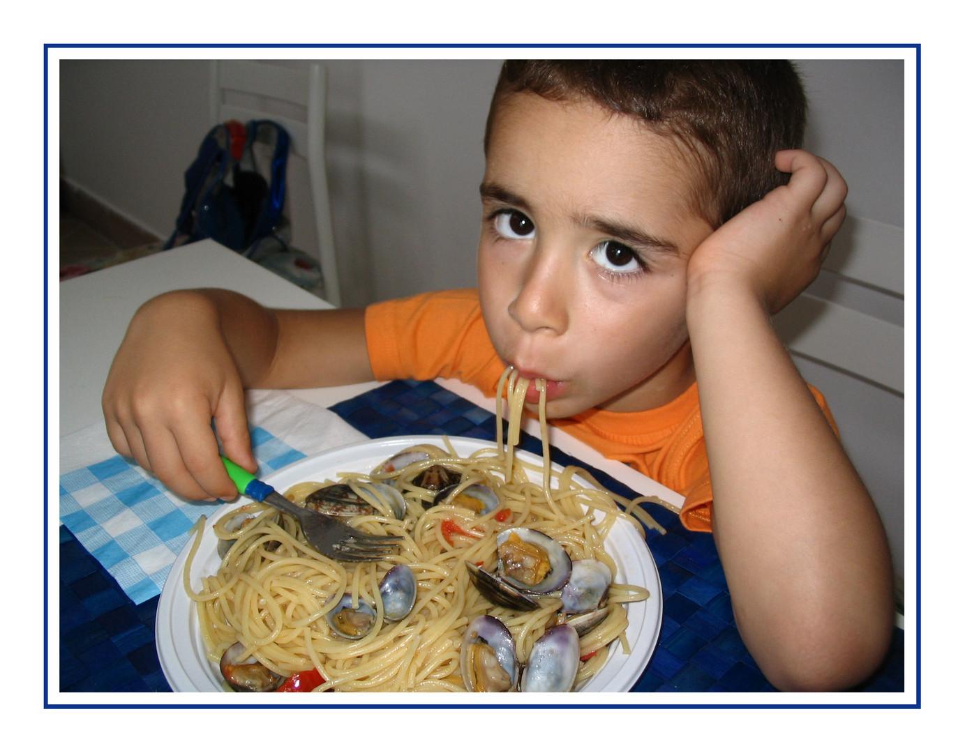 Quanto sono buoni gli spaghetti con le vongole