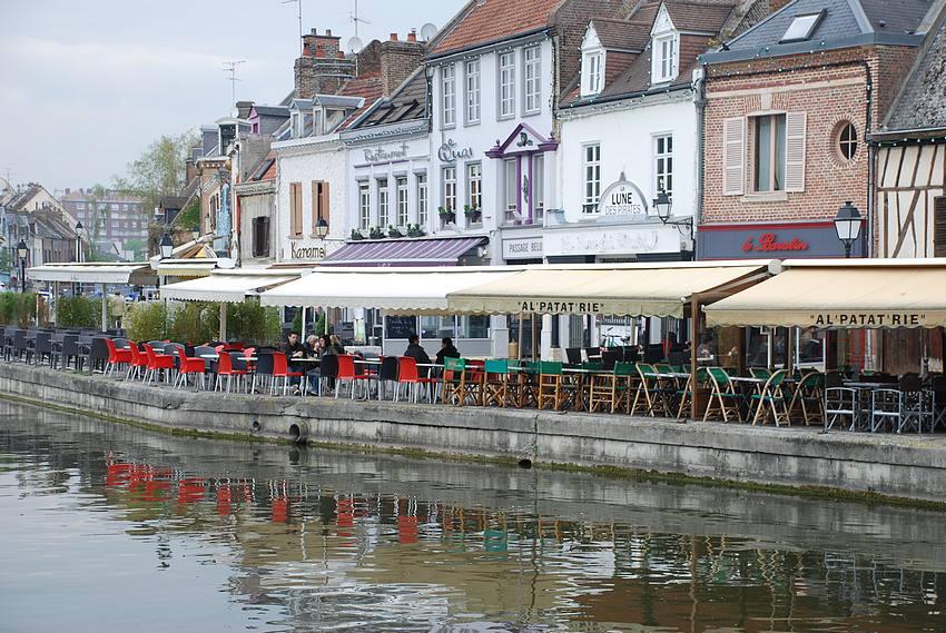 Quartier Saint Leu à Amiens (Somme)