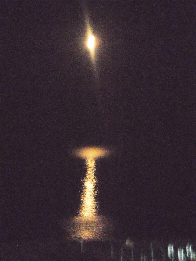 Quarto Di Luna Sul Mare Foto Immagini Paesaggi Cutensis Luna