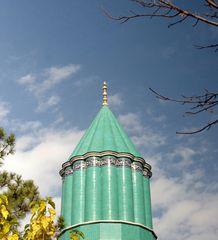 Qubba-i Hadra ou dôme vert, mausolée de Rumi à Kany - Turquie