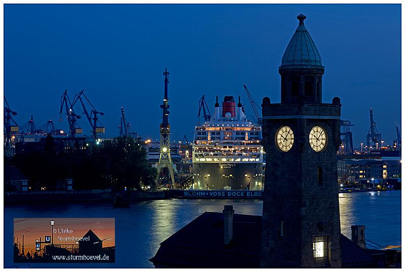 Queen Mary2 und der Pegelturm