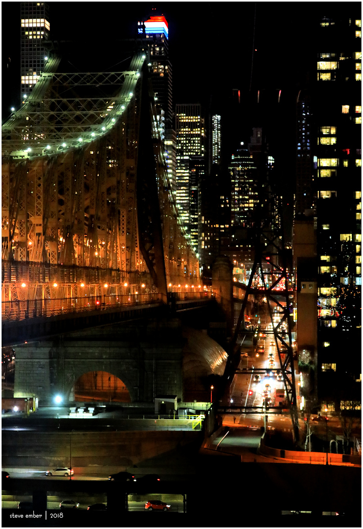 Queensboro Bridge and Midtown-East Skyline