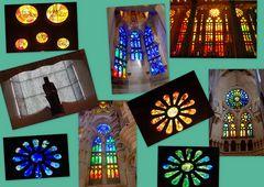 Quelques vitraux de la Sagrada Familia, Barcelone