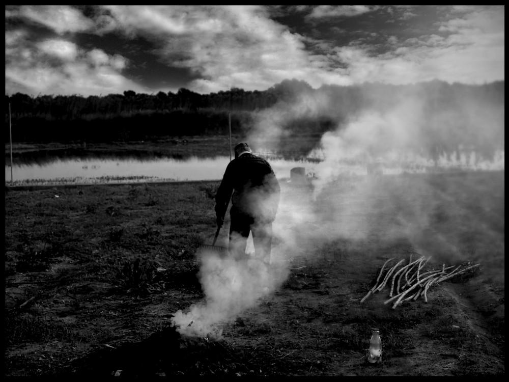 quemando rastrojos