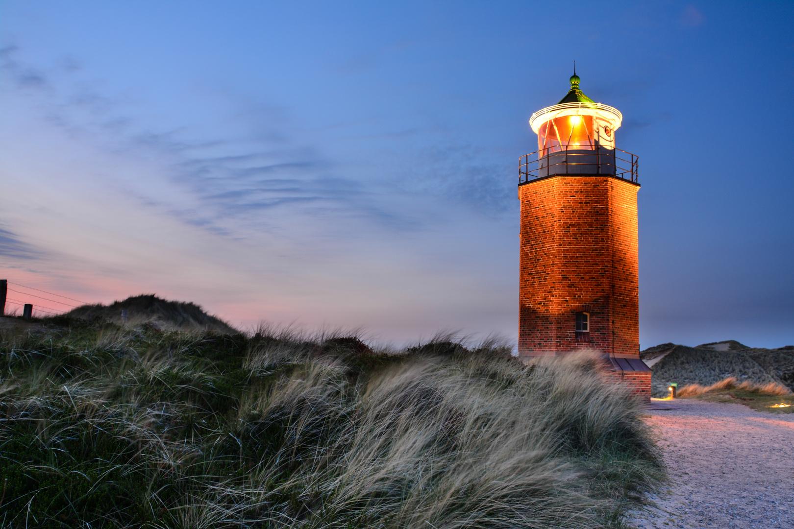 Quermarkenfeuer Rotes Kliff - Kampen - Sylt 2013 HDR