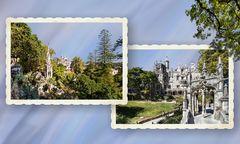 Quinta da Regaleira. Sintra. Vistas del palacio y jardines aledaños.