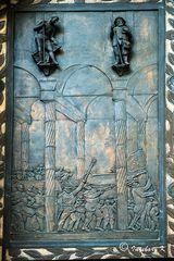 Quirinus-Münster - Außentüre - Detail