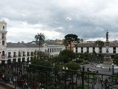 Quito, Blick vom Balkon des Präsidentenpalastes