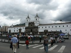 Quito, Plaza de San Francisco mit der Iglesia Convento de San Francisco
