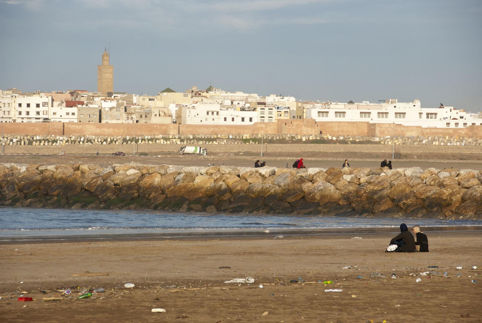 Rabat - Beach - View on Salé
