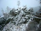 Rabenklippen, im leichten Schnee...