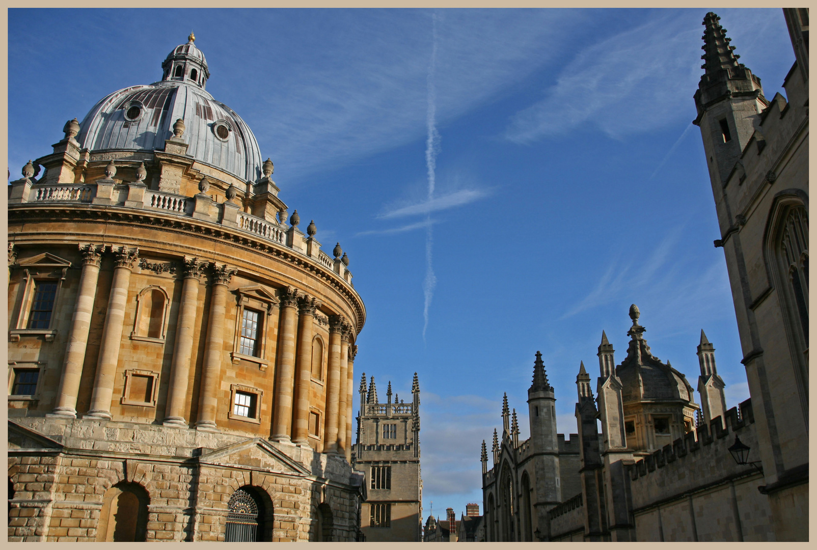 Radcliffe camera and All Souls College Oxford