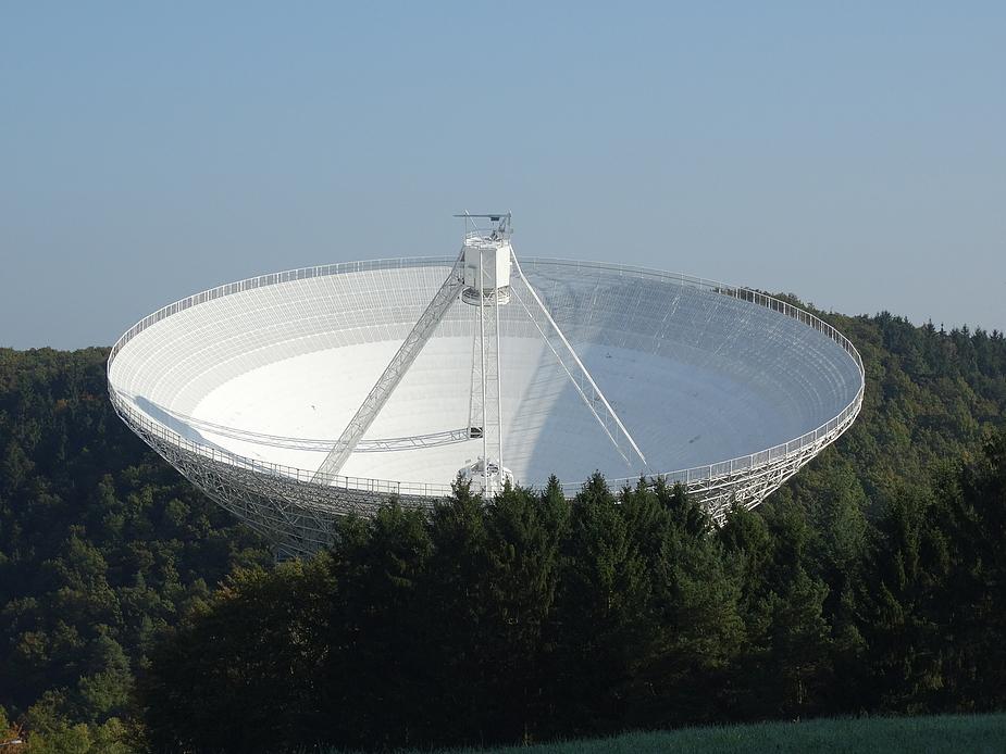 Radioteleskop Effelsberg in der Eifel