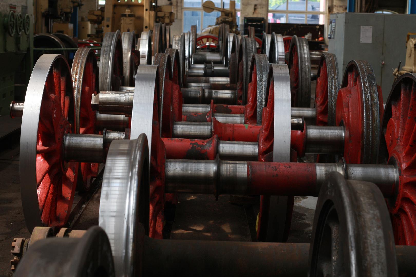 Räder von Dampflokomotiven