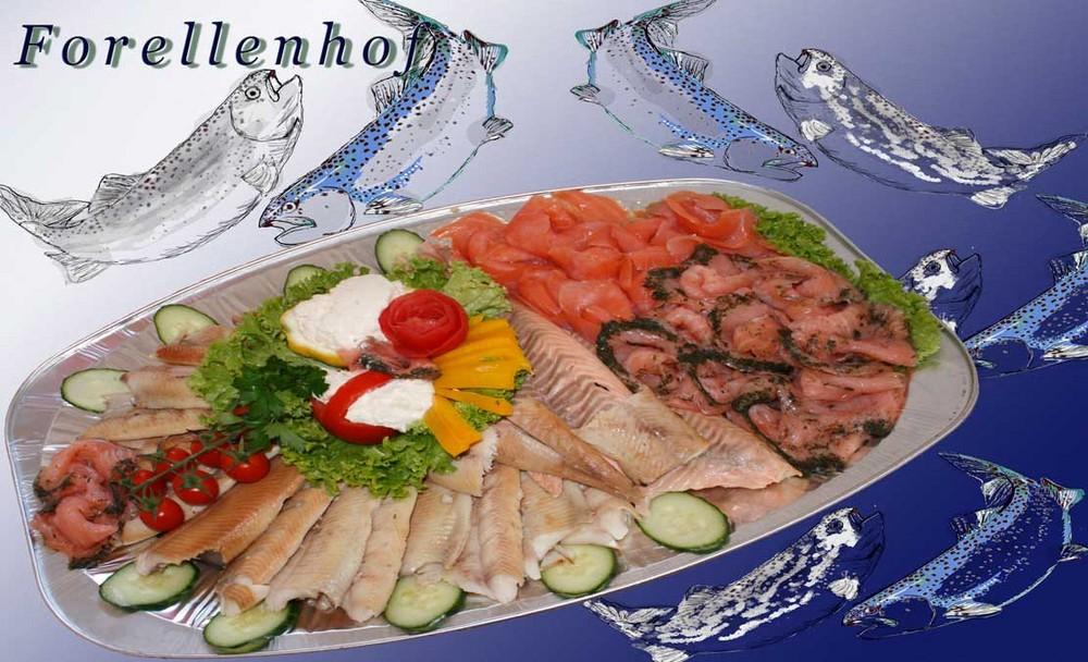 Räucherfischplatte lecker