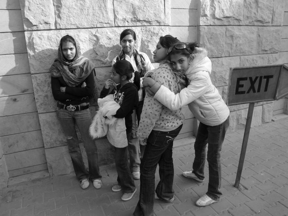 Ragazze egiziane in gita scolastica