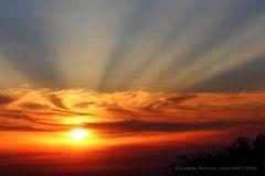 Raggi solari al tramonto