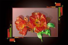 Rahmenspielerei mit Tulpe