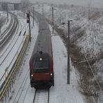 Railjet im Schnee