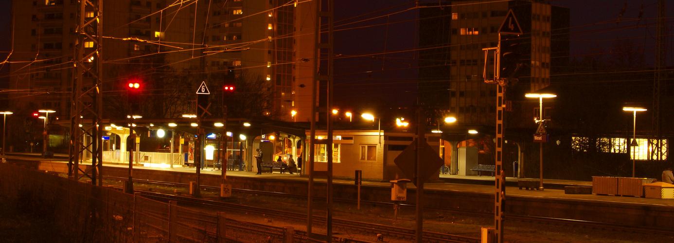 railroad by night