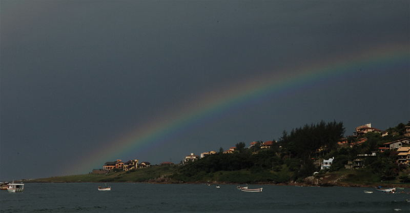 Rainbow at Ponta das Canas