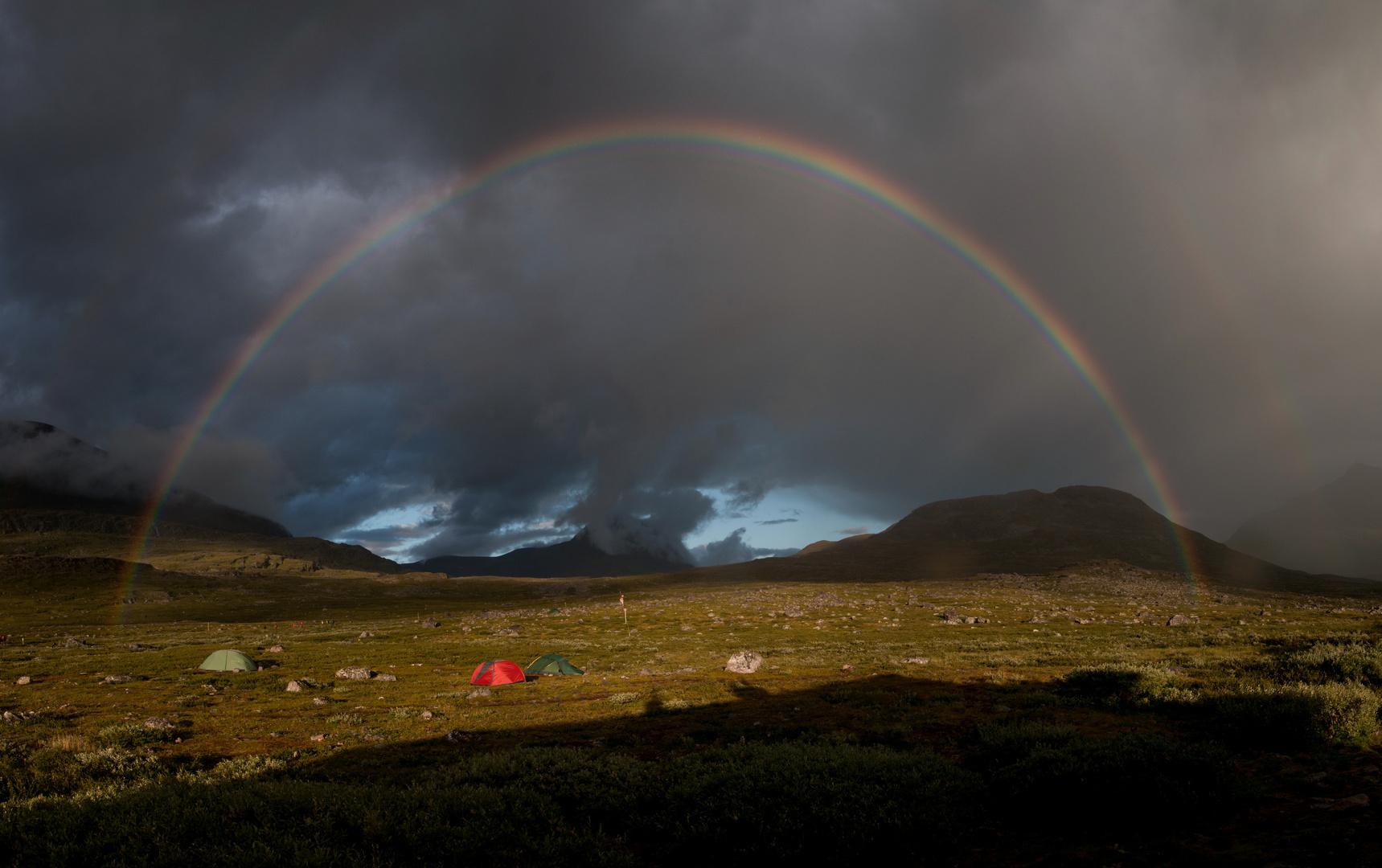 Rainbow at Singi